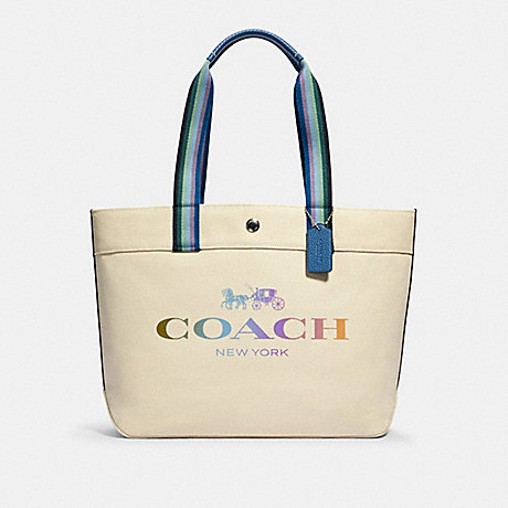 COACH 91170 TOTE WITH COACH SV/NATURAL
