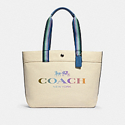 COACH 91170 - TOTE WITH COACH SV/NATURAL