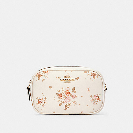COACH 91179 CONVERTIBLE BELT BAG WITH ROSE BOUQUET PRINT IM/CHALK-MULTI