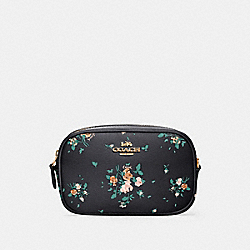 COACH 91179 - CONVERTIBLE BELT BAG WITH ROSE BOUQUET PRINT SV/MIDNIGHT MULTI