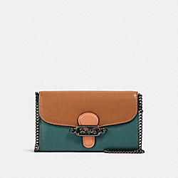COACH 91180 - JADE CHAIN CROSSBODY IN COLORBLOCK QB/DARK TURQUOISE MULTI