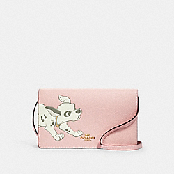 DISNEY X COACH HAYDEN FOLDOVER CROSSBODY CLUTCH WITH DALMATIAN - 91189 - IM/BLOSSOM