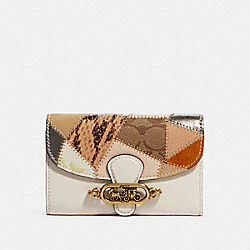 COACH 91193 Jade Medium Envelope Wallet With Patchwork OL/CHALK MULTI