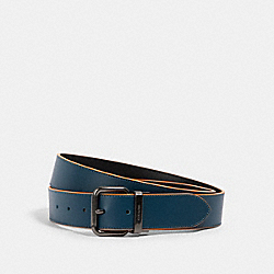 COACH 91233 Harness Buckle Cut-to-size Reversible Belt, 38mm QB/AEGEAN BLACK