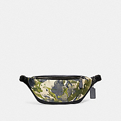 WARREN BELT BAG WITH WATERCOLOR SCRIPT PRINT - 91234 - QB/GREEN MULTI