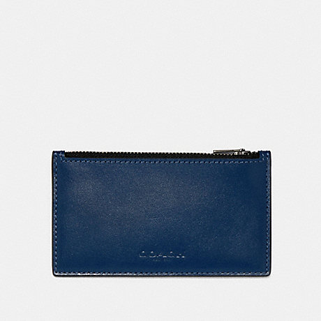COACH 91241 ZIP CARD CASE IN COLORBLOCK QB/BLUE MULTI