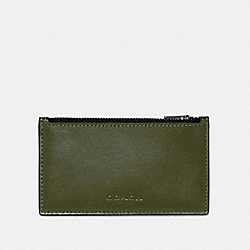 COACH 91241 - ZIP CARD CASE IN COLORBLOCK QB/GREEN MULTI