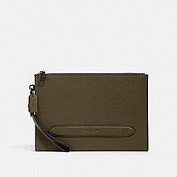 COACH 91278 - STRUCTURED POUCH QB/UTILITY GREEN