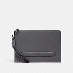COACH 91278 - STRUCTURED POUCH QB/INDUSTRIAL GREY