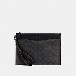 COACH 91285 Beckett Slim Pouch In Signature Canvas JI/BLACK/BLACK