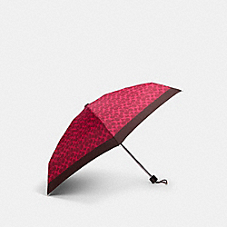 COACH 91363 Mini Umbrella In Fun Signature Print MAGENTA