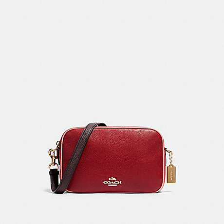 COACH 91382 JES CROSSBODY IN COLORBLOCK IM/DEEP-SCARLET-MULTI