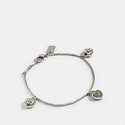 COACH 91403 Pave Turnlock Heart Bracelet SILVER
