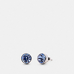 CRYSTAL STUD EARRINGS - 91406 - SV/BLUE