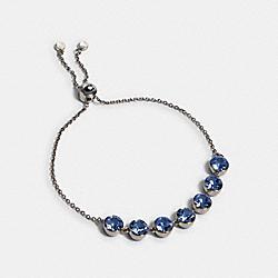 COACH 91407 Crystal Link Slider Bracelet SV/BLUE