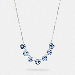 COACH 91408 - CRYSTAL LINK NECKLACE SV/BLUE
