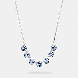 COACH 91408 Crystal Link Necklace SV/BLUE