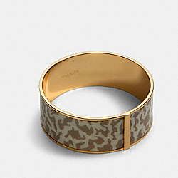 COACH 91409 Animal Print Bangle GD/CHALK