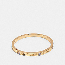 COACH 91410 - COACH STONE BANGLE GOLD