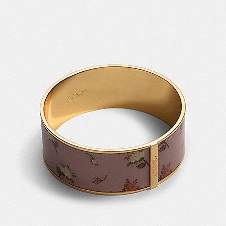 COACH ROSE BOUQUET PRINT BANGLE - GD/BLOSSOM - 91411
