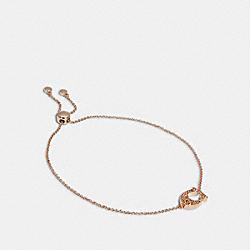 COACH 91427 Pave Signature Slider Bracelet ROSEGOLD