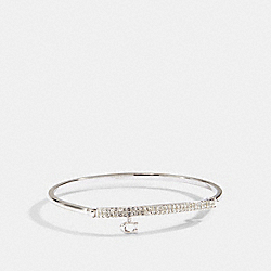 COACH 91429 - SIGNATURE PAVE BAR HINGED BANGLE SILVER