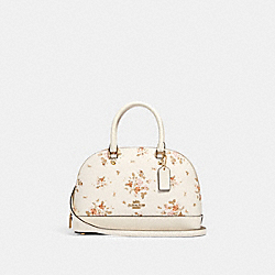 MINI SIERRA SATCHEL WITH ROSE BOUQUET PRINT - 91430 - IM/CHALK MULTI