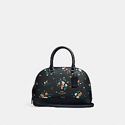 MINI SIERRA SATCHEL WITH ROSE BOUQUET PRINT - 91430 - SV/MIDNIGHT MULTI