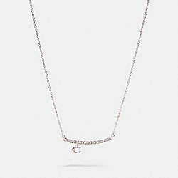 COACH 91431 - SIGNATURE PAVE BAR NECKLACE SILVER