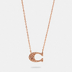 COACH 91433 - PAVE SIGNATURE NECKLACE ROSEGOLD