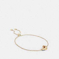 INTERLOCKING OPEN CIRCLE SLIDER BRACELET - 91439 - GOLD