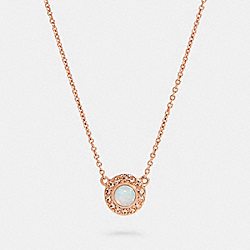 OPEN CIRCLE NECKLACE - 91445 - RS/WHITE