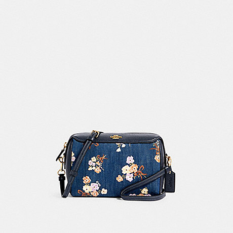 COACH 91450 BENNETT CROSSBODY WITH PAINTED FLORAL BOX PRINT IM/DENIM-MULTI