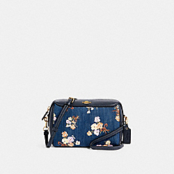BENNETT CROSSBODY WITH PAINTED FLORAL BOX PRINT - 91450 - IM/DENIM MULTI