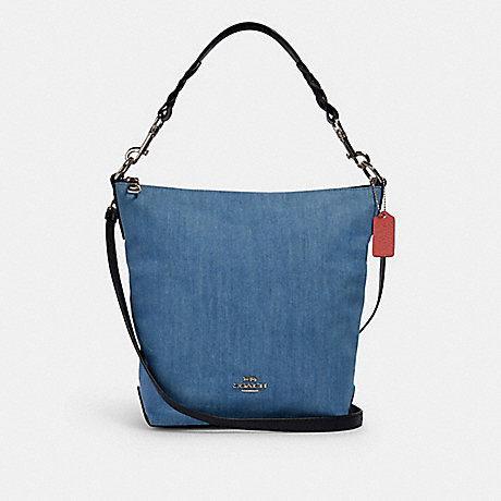 COACH 91452 ABBY SHOULDER BAG SV/DENIM-MULTI