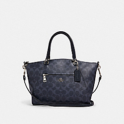 PRAIRIE SATCHEL IN SIGNATURE CANVAS - 91455 - SV/DENIM MIDNIGHT