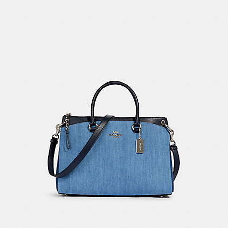 COACH 91457 MIA SATCHEL SV/DENIM-MULTI