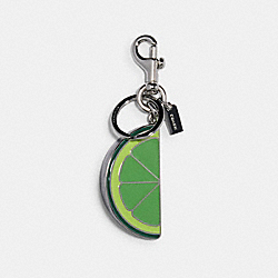 COACH 91482 - LIME SLICE BAG CHARM SV/SHAMROCK