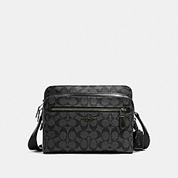 COACH 91485 West Camera Bag In Signature Canvas QB/CHARCOAL/BLACK