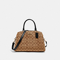 LILLIE CARRYALL IN SIGNATURE CANVAS - 91495 - IM/KHAKI/BLACK