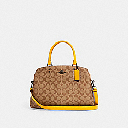 COACH 91495 - LILLIE CARRYALL IN SIGNATURE CANVAS QB/KHAKI HONEY