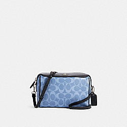 BENNETT CROSSBODY IN SIGNATURE CANVAS - 91500 - SV/LIGHT DENIM