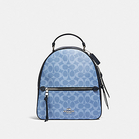 COACH 91501 JORDYN BACKPACK IN SIGNATURE CANVAS SV/LIGHT DENIM