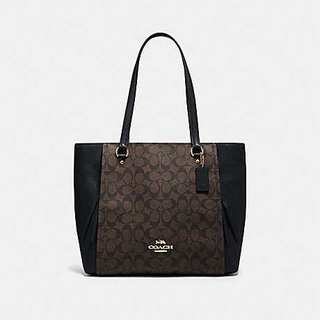COACH 91508 MARLON TOTE IN SIGNATURE CANVAS IM/BROWN-BLACK