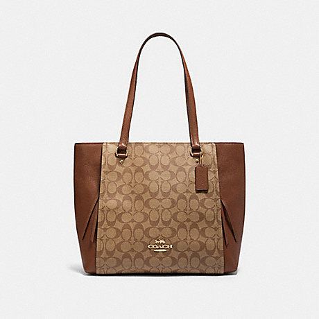 COACH 91508 MARLON TOTE IN SIGNATURE CANVAS IM/KHAKI-SADDLE-2