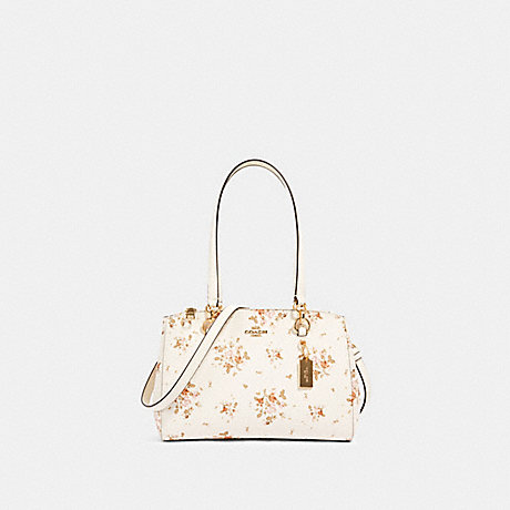 COACH 91509 ETTA CARRYALL WITH ROSE BOUQUET PRINT IM/CHALK MULTI