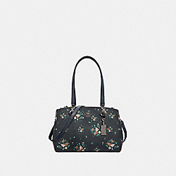 COACH 91509 Etta Carryall With Rose Bouquet Print SV/MIDNIGHT MULTI