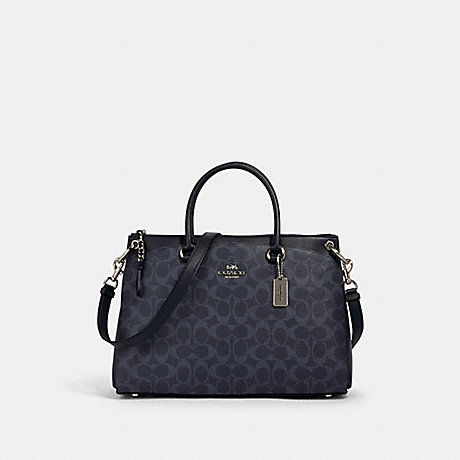 COACH 91510 MIA SATCHEL IN SIGNATURE CANVAS SV/DENIM-MIDNIGHT