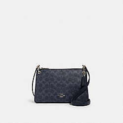 MIA CROSSBODY IN SIGNATURE CANVAS - 91511 - SV/DENIM MIDNIGHT
