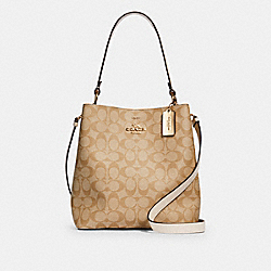 COACH 91512 - TOWN BUCKET BAG IN SIGNATURE CANVAS IM/LIGHT KHAKI CHALK